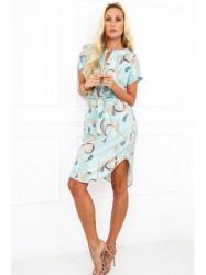 Mentolové dámske elegantné šaty 20610 #1