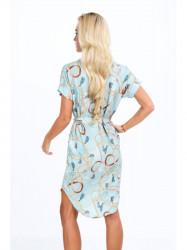 Mentolové dámske elegantné šaty 20610 #2