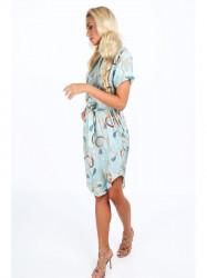 Mentolové dámske elegantné šaty 20610 #3