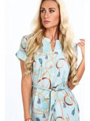 Mentolové dámske elegantné šaty 20610 #4