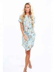 Mentolové dámske elegantné šaty 20610 #5
