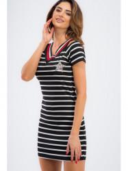 Mini šaty námorníckeho štýlu