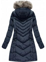 Modrá dámska zimná bunda W735