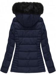 Modrá dámska zimná bunda W736