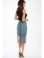 Modrá tylová sukňa