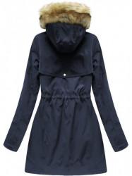 Modrá zimná dámska parka W164 #1