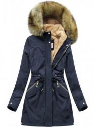 Modrá zimná dámska parka W164 #4