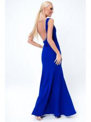 Modré šaty s holým chrbtom G5048 aeaee00278