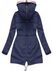 Obojstranná dámska prechodná bunda W621, modrá #1