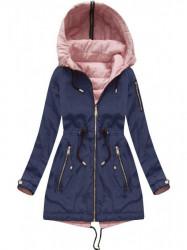 Obojstranná dámska prechodná bunda W621, modrá #3