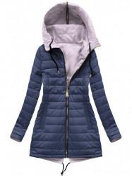 Obojstranná dámska prechodná bunda W621BIG, fialová