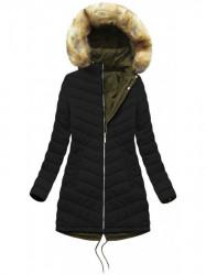 Obojstranná zimná bunda W214BIG, khaki