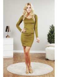 Olivové mini šaty
