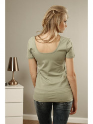 Olivové tričko