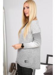 Ombre sivý sveter