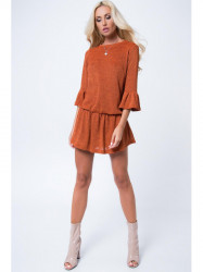 5fddc25fc08b Oranžové mini šaty MP16146