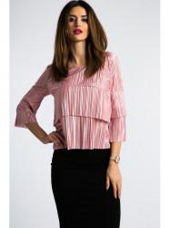 Perlovo-ružový, elegantný top