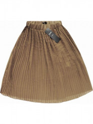 Plisovaná midi sukňa 9260 béžová