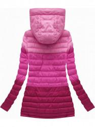Prechodná bunda ombre ružová (W618)