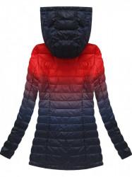 Prechodná bunda ombre W616, červená/granátová