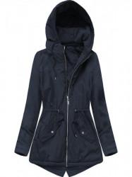 Prechodná dámska bunda s kapucňou B2661 tmavomodrá
