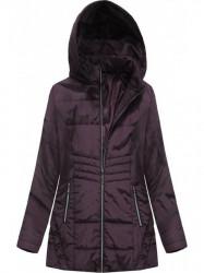 Prechodná dámska bunda s prešívaním B2626 fialová
