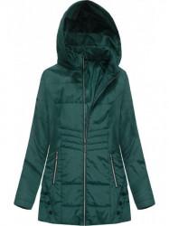 Prechodná dámska bunda s prešívaním B2626 zelená