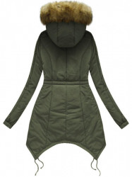 Prešívaná zimná bunda 7203W, khaki