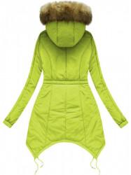 Prešívaná zimná bunda 7203W, limetková