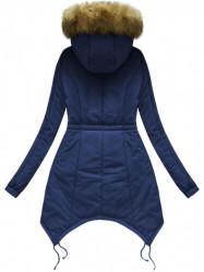 Prešívaná zimná bunda 7203W, tmavo modrá