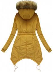 Prešívaná zimná bunda 7203W, žltá