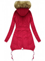 Prešívaná zimná bunda X7210WX, červená