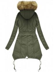 Prešívaná zimná bunda X7210WX, khaki