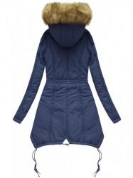 Prešívaná zimná bunda X7210WX, tmavo modrá
