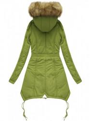 Prešívaná zimná bunda X7210WX, zelená
