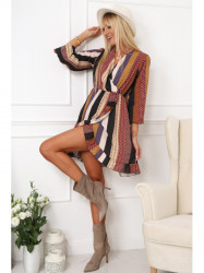 Pruhované šaty s lemom 0345 multicolor