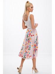 Pudrová sukňa s kvetinami #2