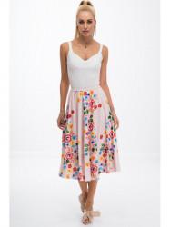 Pudrová sukňa s kvetinami #3