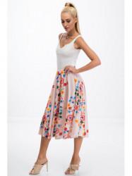 Pudrová sukňa s kvetinami #4