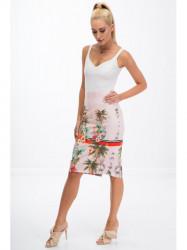 Púdrovo ružová sukňa