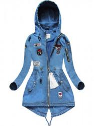 Riflová bunda W514, svetlo modrá