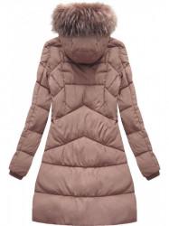 Ružová dámska zimná bunda 7757BIG