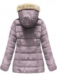 Ružová dámska zimná bunda B1051 #1