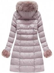 Ružová dámska zimná bunda W765-1