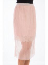 Ružová tylová sukňa