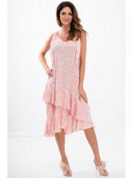 Ružové kvetinové šaty 21564