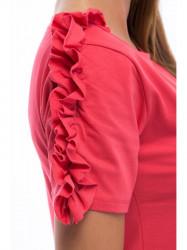 Ružové tričko s volánmi