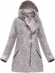 Ružový dámsky prechodný kabát 174ART