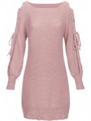 Ružový dámsky sveter 113ART