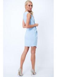 Šaty s ozdobným zipsom G5022, svetlo modré
